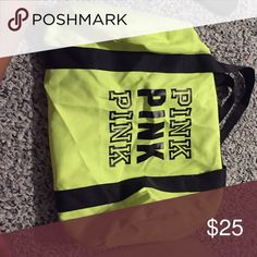 New Victoria secret gym bag Bright yellow never worn Victoria's Secret Bags