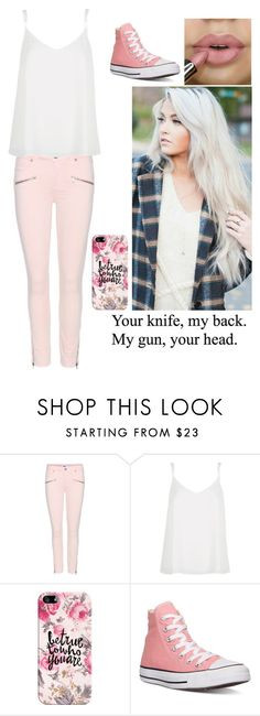 """Being The New Girl Again"" by nbrmacdonald ❤ liked on Polyvore featuring Paige Denim, River Island, Casetify, Converse, women's clothing, women, female, woman, misses and juniors"