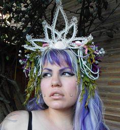 Pearl Sea Nymph Mermaid Headdress via Etsy.