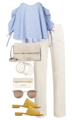 """""""Untitled #4194"""" by theeuropeancloset on Polyvore featuring Caroline Constas, Mansur Gavriel, Chloé, Linda Farrow and Narciso Rodriguez"""