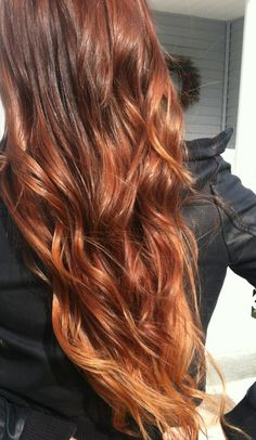 Ombre hair- I like the red hues