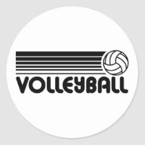 Shop Volleyball Classic Round Sticker created by magarmor. Volleyball Locker Signs, Volleyball Team Shirts, Volleyball Shirt Designs, Volleyball Posters, Volleyball Memes, Volleyball Setter, Volleyball Workouts, Coaching Volleyball, Softball Players