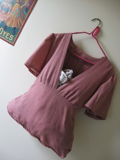 Recycle top into a bag for rags- organize