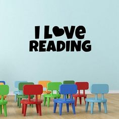 I Love READING. This item can be appication for classroom and library decor. This item is available 1 size and 15 different colours. All items come in sections and can be positioned as you wish.  Material: PVC/Vinyl.  Small size: 15cm(h) * 36cm(w).  Color: Black, White, Pink, Green, Red, Orange, Purple, Dark Coffee, Dark Blue, Dark Gray, Light Blue, Light Coffee, Light Grey, Light Purple, Orange Yellow. Wall Stickers Quotes, Wall Quotes, Wall Decals, Grey Light, Light Purple, Dark Blue, Color Black, Black White, Pvc Vinyl