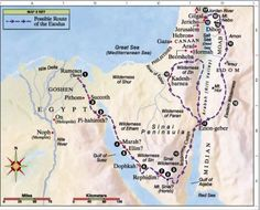 day of the lord mapped out | Israel's Exodus From Egypt and Entry into Canaan | Jesus Reigns
