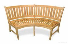 Curved Teak Bench 5ft - Estate Collection - More Details
