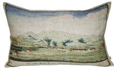 The perfect piece for a space with a South African theme, the Noordhoek cushion reminds one of Noordhoek in Cape Town.