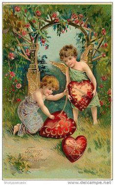 Vintage card cupid