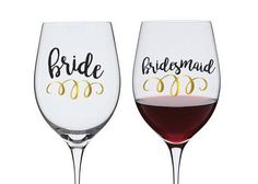 bridal party decal, wedding party decal, bridesmaid decal, wine glass decal, water bottle decal, mug decal