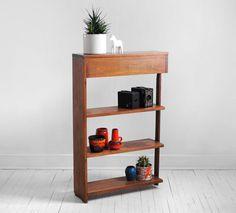 Mid Century Teak Wood Shelf - Wall, Modern, Bookshelf, Retro