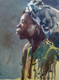 F Christoff Debusschère Art Afro, African Artwork, Natural Hair Art, Painting People, Art Background, Figurative Art, Canvas Artwork, Female Art, Art Images