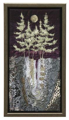 Silver Fir fiber art textile art