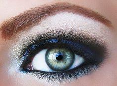 who says green eyes can't wear blue eyeshadow