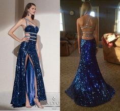 Gorgeous Blingnbling Full Sequins Formal Sheath Evening Dresses Sexy Split One Shoulder Backless Prom Gowns Custom Made Party Gowns Cheap Online with $123.93/Piece on Beautydesign's Store | DHgate.com
