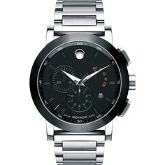 Movado Museum Gents Sports Chrono Watch W/ A Black Dial Style# 0606792