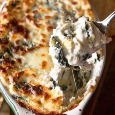 Spinach and Artichoke Goat Cheese Dip | cakenknife.com