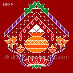Sankranti Rangoli Step 4