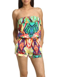 Tribal Printed Tube Romper
