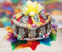 How to Create a Birthday Candy Cake