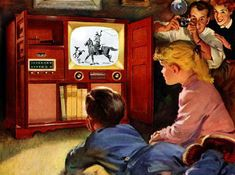 Once upon a time, a television in the dining room