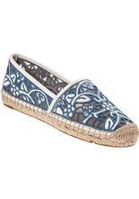 fbd3a9891cdd Tory Burch Lucia Flat Espadrille Ivory Leather - Jildor Shoes Juicy  Couture