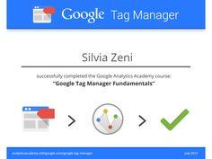 L'attestato di completamento del corso Google #TagManager #GTM #analytics #webanalytics