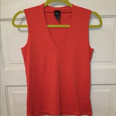 Stretchy v neck top Orange from esprit top. Never worn but no tags ESPRIT Tops