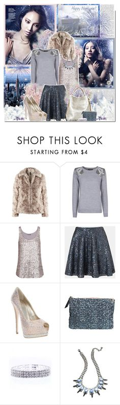 """""""Happy New year"""" by ellchy89 ❤ liked on Polyvore featuring MANGO, Velvet, Topshop, Giuseppe Zanotti, Ralph Lauren Collection, By Malene Birger and DANNIJO"""