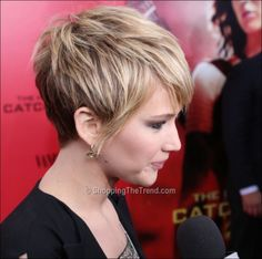 Jennifer Lawrence's short hair- getting this cut in the spring!  Love it!