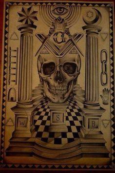 The Hidden Truth: Illuminati Symbols Masonic Art, Masonic Symbols, Masonic Signs, Masonic Order, Masonic Temple, Occult Symbols, Masonic Lodge, Masonic Tattoos, Freemason Symbol