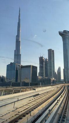 On the Dubai Metro - heading to Burj Khalifa and Dubai Mall Dubai City, Dubai Mall, Dubai Video, Dubai Travel Guide, Places To Travel, Places To Visit, Dubai Vacation, Dubai Holidays, Visit Dubai