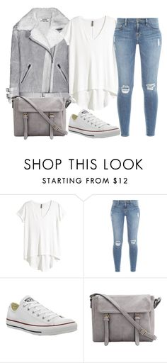 """Untitled #362"" by claudiadessi on Polyvore featuring H&M, Frame Denim and Converse"
