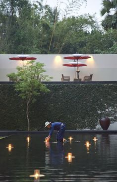 Candle Lighting, Anantara Chiangmai Resort & Spa, City, Charoenprathet Road, Chiang Mai, Thailand.
