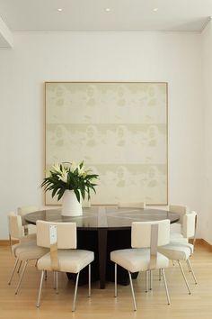 Mona Lisa Silkscreen artwork in a William T. Georgis dining room