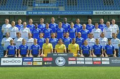 Arminia Bielefeld hat zum offiziellen Fototermin für die neue Saison geladen +++  Und nun einmal bitte recht freundlich!