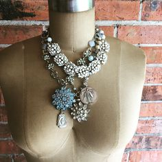 New listings in the shop!  Check out the fun new necklaces made from vintage jewelry pieces.