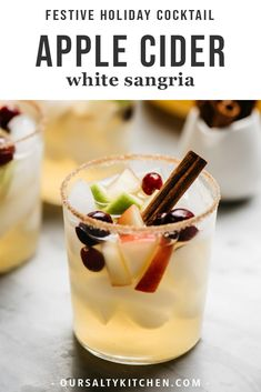Perfectly sweet and tart, this is the best apple cider sangria recipe! Made in advance, it's the perfect fall sangria recipe for Thanksgiving. Sangria Recipe For A Crowd, Batch Cocktail Recipe, Cocktail Recipes For A Crowd, Sangria Recipes, Food For A Crowd, Margarita Recipes, Drink Recipes, Dessert Recipes, Thanksgiving Sangria