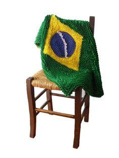 Tapete de fru fru Bandeira do Brasil      by Trama Terê