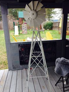 Metal windmill - a project for the summer! It's in working condition and is so fun to have!