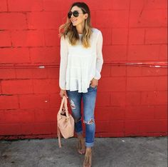 Casual jeans and flowy top
