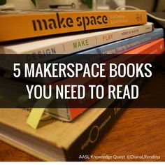 There's so many amazing books coming out now related to starting a school makerspace, and many of them are fantastic. But for this post, I want to take a look back and focus on the five books that had the biggest impact on me as I was planning and creating my makerspace at Stewart Middle Magnet … … Continue reading →
