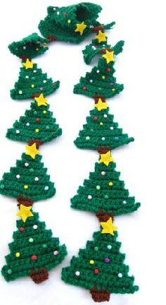 Enfeites de Natal de Crochê