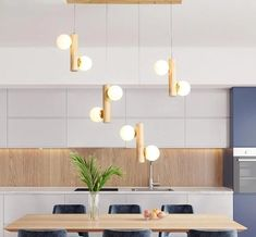 Bring gorgeous modern design to your home with the fabulous Prescott chandelier. Made from eco-friendly wood and glass. Power Source: AC Voltage: 220V G9 base lamp holder. LED light bulbs not included. Free Worldwide Shipping & 100% Money-Back Guarantee Home Interior, Kitchen Interior, Interior Design, Interior Ideas, Smart Home Ideas, Chandeliers, Art Deco Chandelier, Modern Kitchen Design, Modern Design