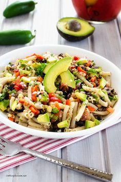 Southwestern Quinoa & Pasta Salad #quinoa #glutenfree #vegan