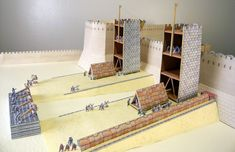 The Roman Siege Of Jerusalem AD 70 - A Diorama Paper Model by William Webb -- -- What a great diorama for School Works, RPG and Wargames! Created by British illustrator William Webb. Work In New York, Learning Courses, Bible Truth, Victoria And Albert Museum, Paper Models, The Body Shop, Jerusalem, Book Activities, Diorama