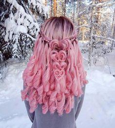 нєαят ωαηтs ωнαт ιт ωαηтs New kind of heart braid with some waterfa Cute Hair Colors, Hair Dye Colors, Cool Hair Color, Pretty Hairstyles, Braided Hairstyles, Heart Braid, Coiffure Hair, Hair Art, Gorgeous Hair