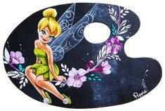 Poppix Peinture acrylique fée clochette sur palette de peintre Lorem Ipsum, Wordpress Theme, Palette, Tinker Bell, Acrylic Paintings, Painted Canvas, Pallets