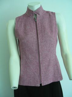 COLDWATER CREEK  Vest  Wool Acrylic Nylon  Plum Satin Lined Size 4  NWOT #ColdwaterCreek