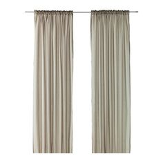 VIVAN Pair of curtains IKEA The curtains let the light through but provide privacy so they are perfect to use in a layered window solution.