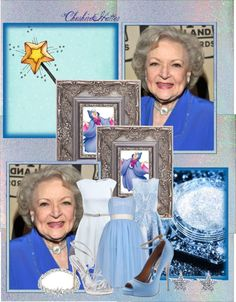 """""""Betty White as The Fairy Godmother"""" by cheshirehatter ❤ liked on Polyvore"""